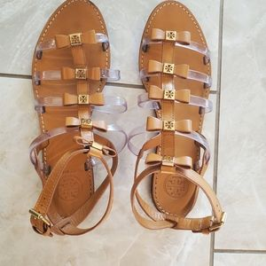 Tory Burch brown leather sandals size 9